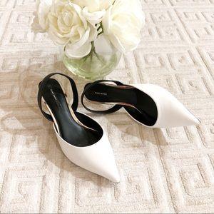 Zara Basic Slingback kitten Heels
